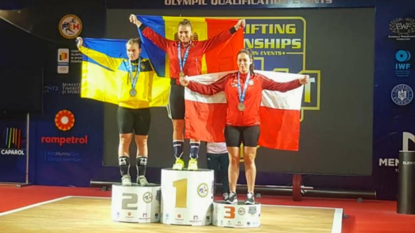 Foto: Halterofila moldoveancă Ecaterina Tretiacova a devenit campioană europeană!