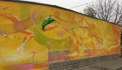 În Chișinău a apărut o nouă pictură murală, realizată de artistul Radu Dumbravă. Foto!
