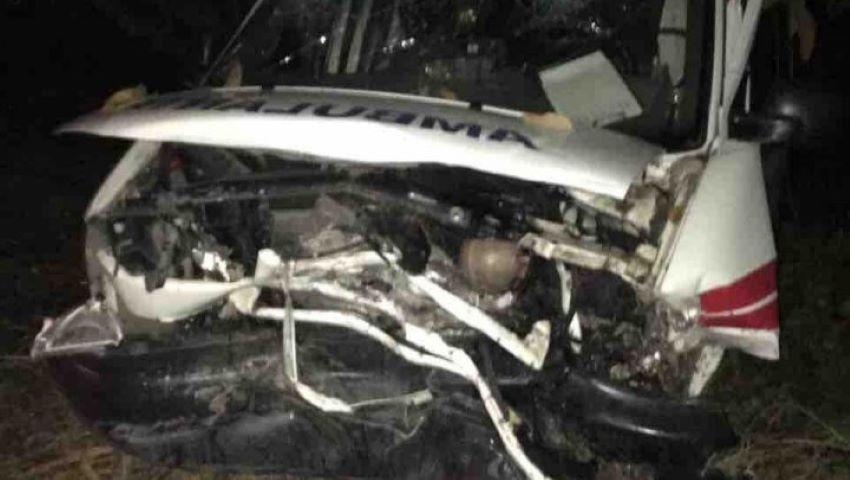 Foto: Accident îngrozitor la Drochia. Întreg echipajul unei ambulanțe a fost rănit grav, iar șoferul a murit