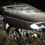 Foto: Accident la Ungheni: o fetiță de 13 ani s-a stins pe loc, alti trei pasageri sunt în stare gravă