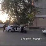 Foto: Video. Momentul în care doi frați, angajați pentru un omor la comandă, trag 21 de împușcături într-un Mercedes, la Botanica