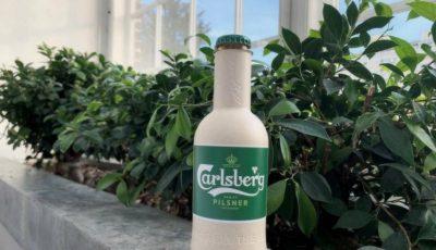 Carlsberg a prezentat prima sticlă de bere biodegradabilă din hârtie