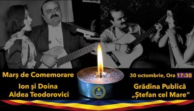 La Chișinău, va avea loc un Marș de comemorare în memoria lui Ion și Doina Aldea-Teodorovici