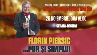 Florin Piersic revine la Chișinău!