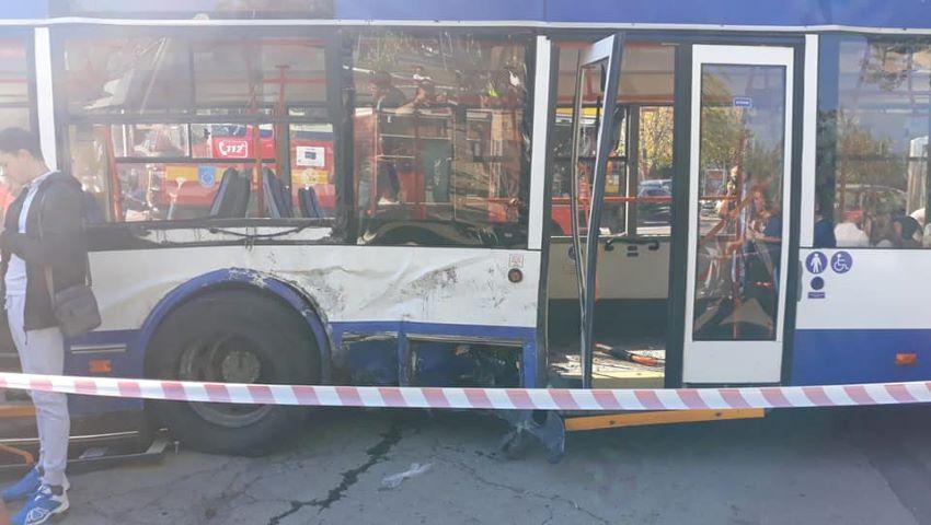 Foto: Declarațiile șoferului de troleibuz, implicat în accidentul din sectorul Buiucani