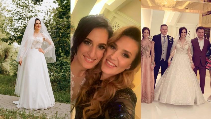 Foto: Interpreta Carolina Gorun a fost aseară mireasă! Invitați aleși pe sprânceană la nunta artistei