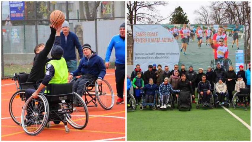 """Foto: Persoanele cu dizabilități locomotorii din municipiul Ungheni, susținute de către tinerii antreprenori din localitate în cadrul proiectului ,,Șanse egale pentru o viață activă"""""""