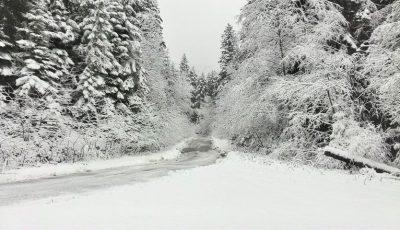 Localitatea din Moldova unde s-a așternut un strat consistent de zăpadă