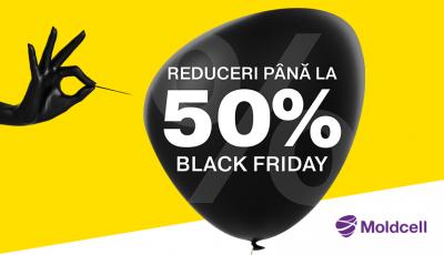 De Black Friday, ai reduceri online de până la -50% la Moldcell