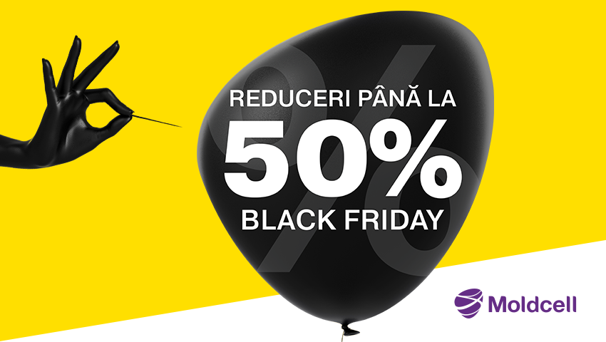 Foto: De Black Friday, ai reduceri online de până la -50% la Moldcell