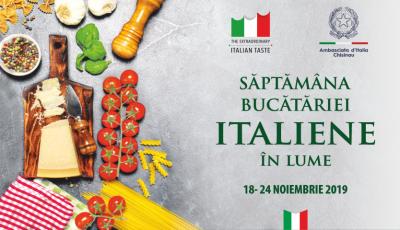""",,Săptămâna Bucătăriei Italiene în Lume"""" va fi marcată printr-o serie de evenimente la Chișinău"""