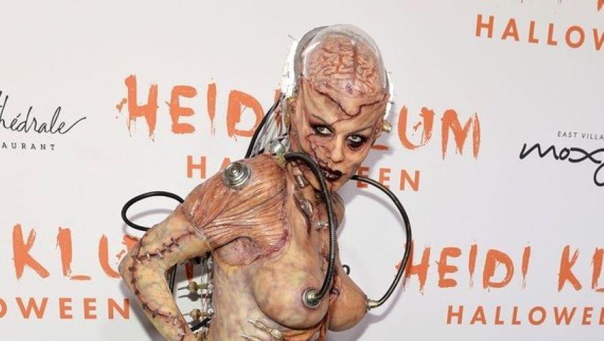 Foto: Heidi Klum a purtat cel mai horror costum de Halloween