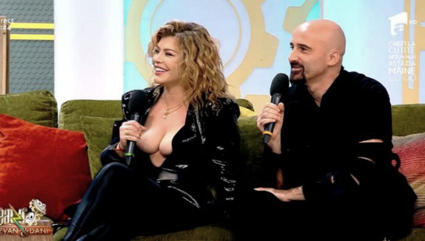 """Foto: Video. Loredana Groza a apărut cu un decolteu ,,amețitor"""" la TV"""