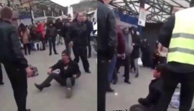 Video. Panică la Gara de Nord din Chișinău. Un individ atacă cu un cuțit, călătorii