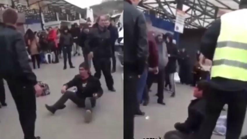Foto: Video. Panică la Gara de Nord din Chișinău. Un individ atacă cu un cuțit, călătorii