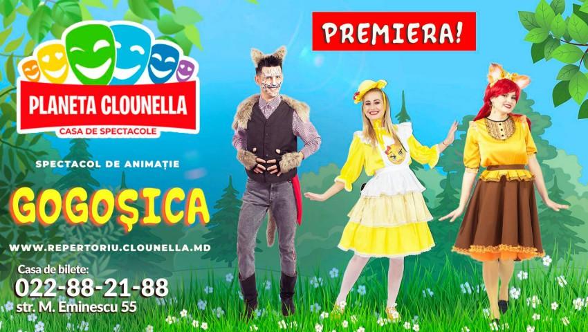 """Foto: ,,Planeta Clounella"""" invită copiii la premiera spectacolului ,,Gogoșica""""!"""
