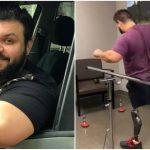 Foto: Sportivul moldovean Ștefan Roșca merge din nou datorită unor proteze performante!