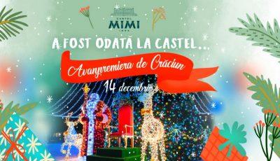 """""""A fost odată la Castel…"""" – să înceapă aventura! Anul acesta, Moș Crăciun te aduce cu un tren modern chiar la porțile Castelului Mimi!"""