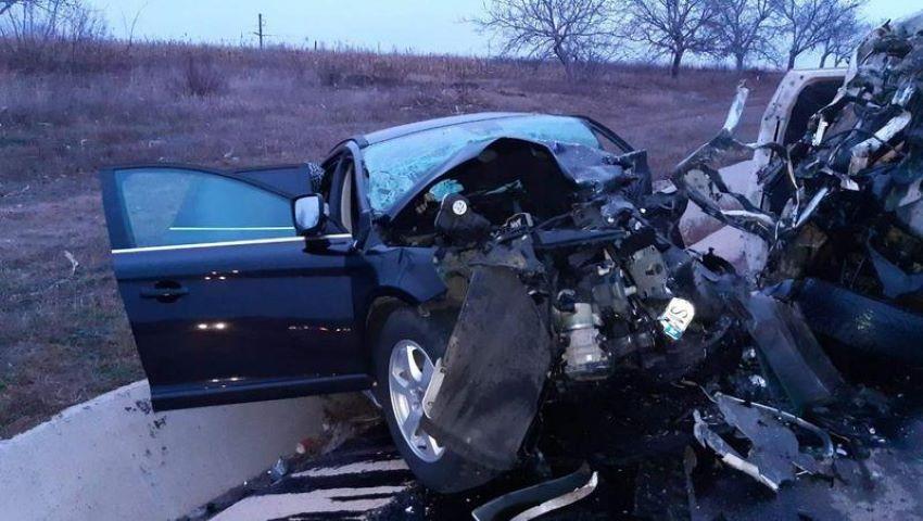 Foto: Accident îngrozitor în raionul Florești. Automobilele au fost făcute zob