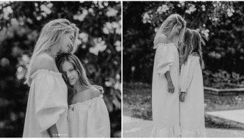 Vera Brejneva, într-o ședință foto minunată alături de mama sa și fiicele ei