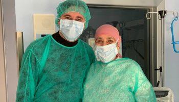 Emilian Crețu dăruiește speranță și curaj. Actorul a vizitat o doamnă aflată pe patul de spital, în Italia