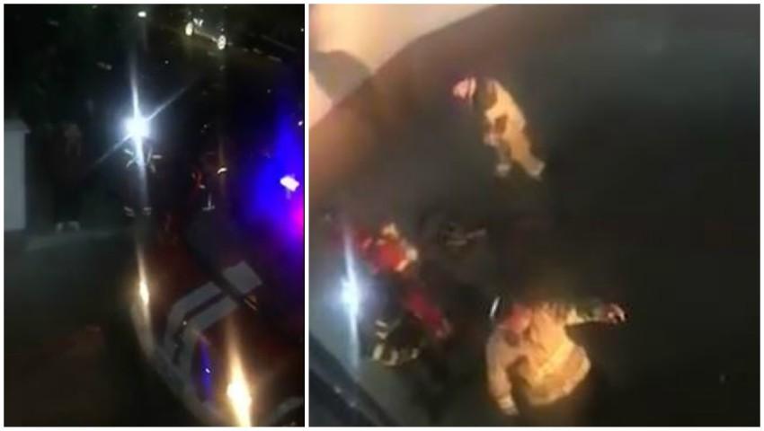 Explozie într-un bloc din centrul capitalei. Locătarii au ieșit speriați afară