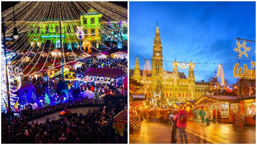 Cele mai frumoase târguri de Crăciun din Europa au dat startul sărbătorilor de iarnă!