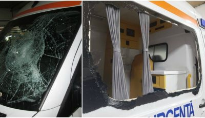 Caz strigător la cer în Capitală! O ambulanță a fost vandalizată cu o rangă metalică, iar șoferul agresat, în timp ce acorda ajutor unui pacient