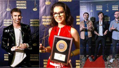 Au pus mâna pe trofee! Iată cine sunt câștigătorii Moldova Music Awards 2019