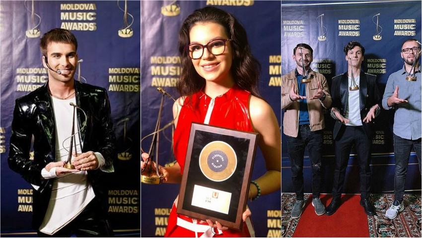 Foto: Au pus mâna pe trofee! Iată cine sunt câștigătorii Moldova Music Awards 2019
