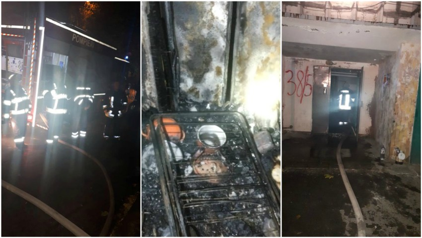 Foto: Ultimele detalii despre incendiul din sectorul Botanica. Ce spun pompierii?