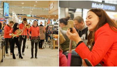 La cumpărături pe note muzicale! Cum i-a surprins Moldovan National Youth Orchestra pe clienții unui magazin din Capitală