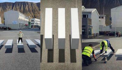 În Islanda, numărul deceselor rutiere scade simțitor grație trecerilor pietonale de tip 3D