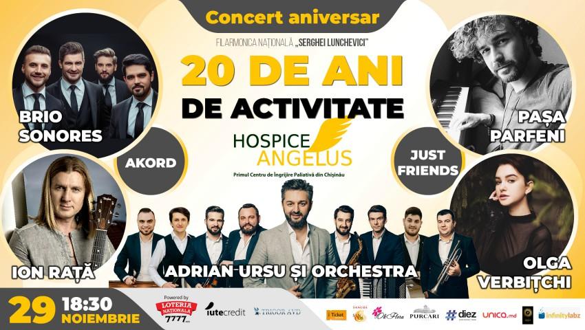 Foto: Fundația Hospice Angelus Moldova vă invită la concertul aniversar dedicat celor 20 de ani de activitate!