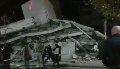 Cutremur în Albania: clădiri prăbuşite, zeci de victime. Video