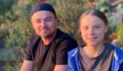 Foto. Leonardo DiCaprio s-a întâlnit cu activista suedeză Greta Thunberg