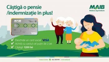 Câștigă o pensie/indemnizație în plus, cu cardul Moldova Agroindbank!
