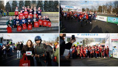 Copii din școli sportive și școli internat, de pe ambele maluri ale Nistrului, au participat la Maratonul de Crăciun, organizat cu sprijinul Uniunii Europene