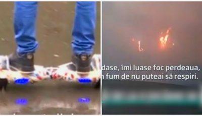 Familie în pericol, după ce un hoverboard cumpărat de Crăciun a explodat