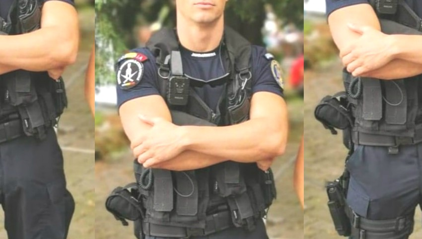 Foto: Polițistul care a ajuns erou pe rețelele de socializare. A sărit în apa rece ca gheața și a salvat viața unei tinere