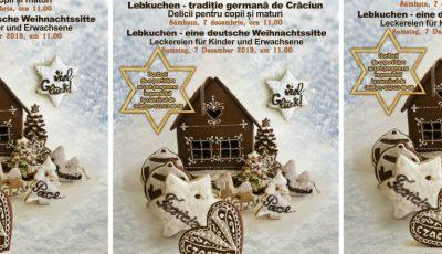 """""""Lebkuchen – tradiție germană de Crăciun"""", masterclass de dulciuri tradițonale germane organizat la Muzeul Național de Etnografie și Istorie Naturală"""