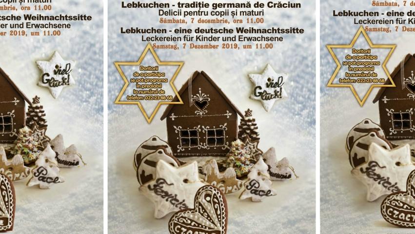 """Foto: """"Lebkuchen – tradiție germană de Crăciun"""", masterclass de dulciuri tradițonale germane organizat la Muzeul Național de Etnografie și Istorie Naturală"""