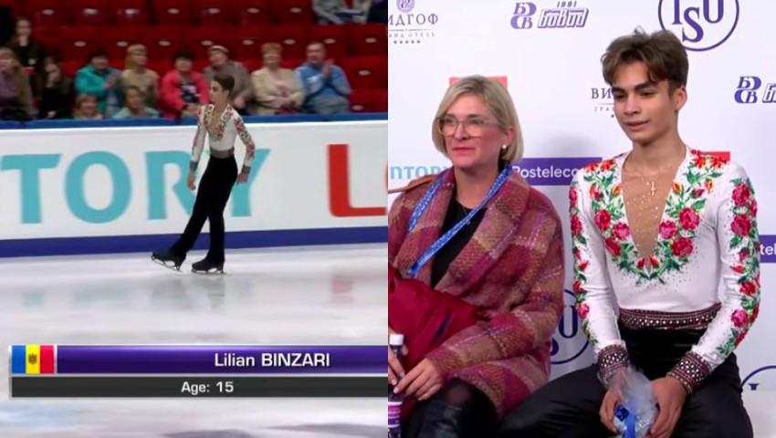 Foto: Lilian Bânzari, legenda patinajului moldovenesc, are nevoie de susținere pentru a-și urma visul