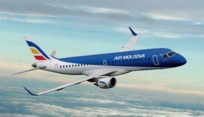 Avionul de pe cursa Bologna-Chișinău a aterizat la București