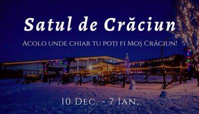 """Vatra te invită pe tărâmul magic al ,,Satului de Crăciun"""" pentru a dărui bucurie!"""