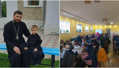 """8 copii orfani și circa 300 de adulți și copii din familii nevoiașe primesc alimente, burse și prânzuri calde la Biserica ,,Nașterea Maicii Domnului"""" din satul Hârtop"""