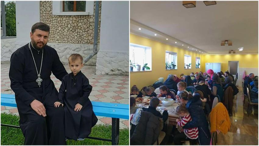 """Foto: 8 copii orfani și circa 300 de adulți și copii din familii nevoiașe primesc alimente, burse și prânzuri calde la Biserica ,,Nașterea Maicii Domnului"""" din satul Hârtop"""