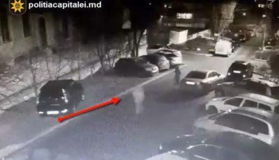 Video. Momentul în care o tânără este agresată și jefuită pe o stradă din Capitală