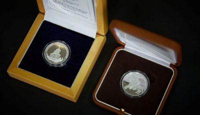 Două monede jubiliare au fost puse în circulație, ca mijloc de plată și în scop numismatic