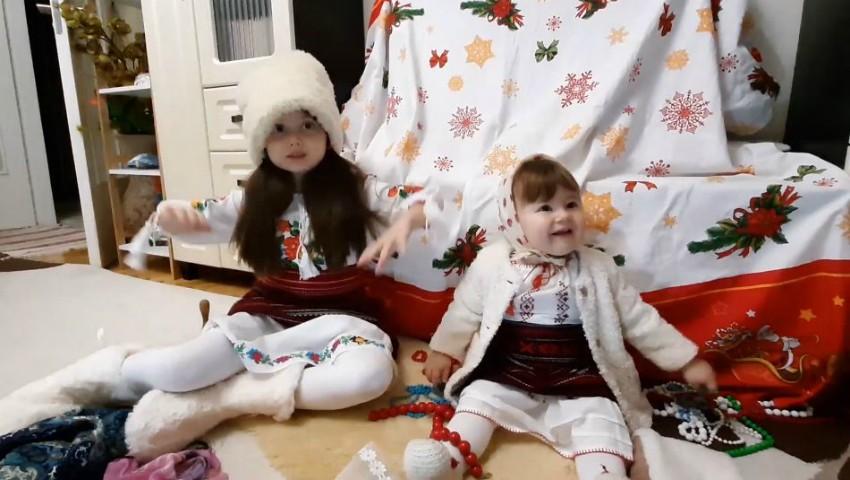Foto: O urătură de zile mari! Fetițele actorilor Aliona Triboi și Ghenadie Gâlcă au topit inimile internauților